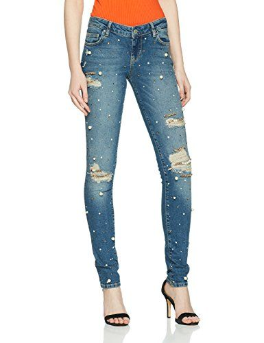 56d044c8a84 Guess Starlet Jean Skinny Femme Blu (Pearlized Washed) 38 (Taille  Fabricant:26