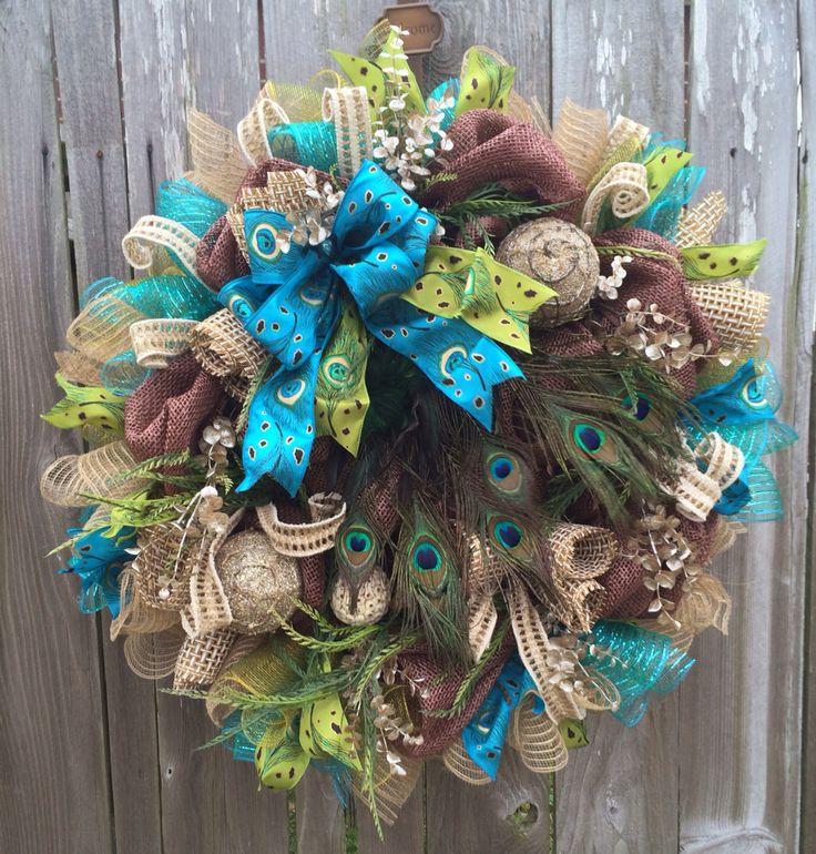 Ba Bam Wreath, Peacock Wreath, Everyday Wreath, Rustic Elegance