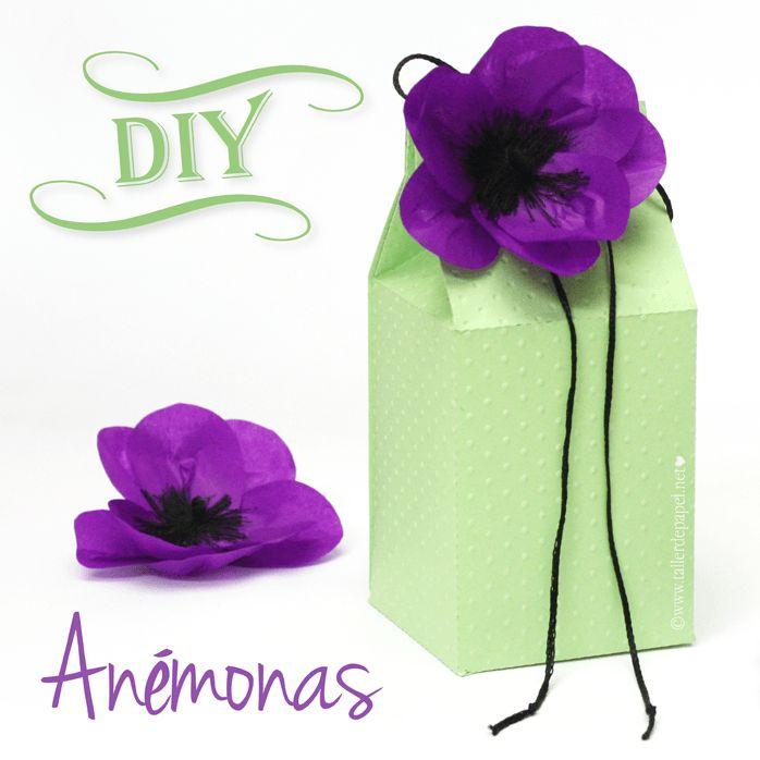 DIY: Tutorial de flores de papel. Lindas anémonas para decorar tus regalos y más!
