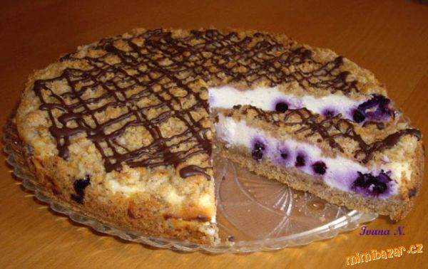 Barborčin ořechový koláč s tvarohem a borůvkami tf-26