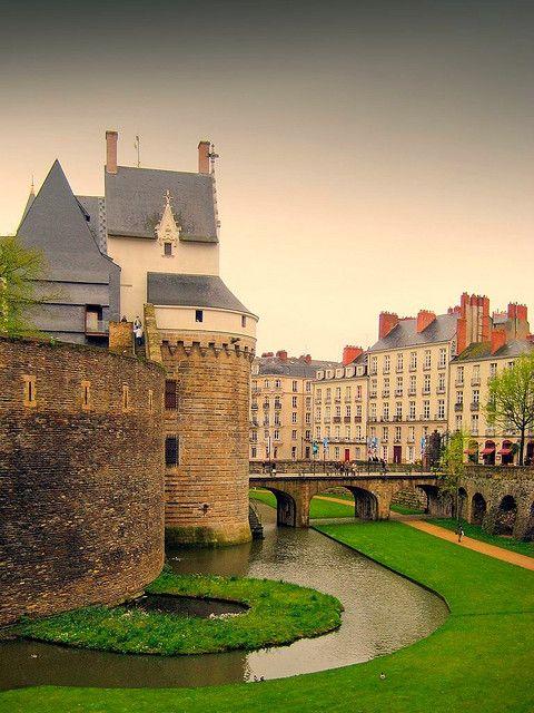 Castillo de los duques de Bretaña en Nantes en Francia.