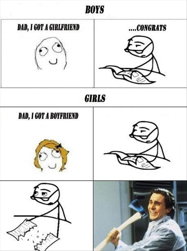 boys vs girls, funny rage comic