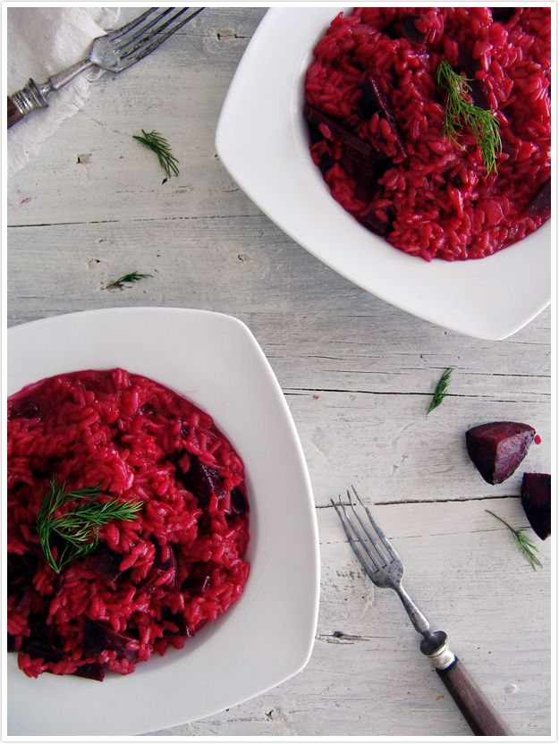 Roastet Beetroot with Fennel and Balsamic Vinagre Risoto