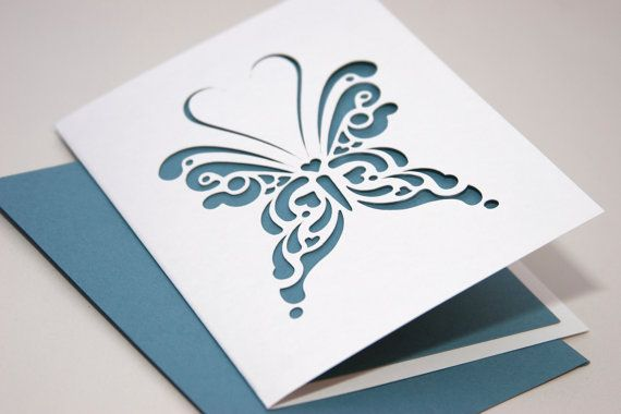 White Butterfly Greeting Card with Blank by starflycreations, $10.00Greeting Card