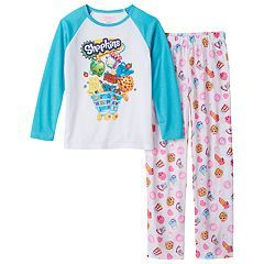Girls 4-12 Shopkins 2-pc. Pajama Set