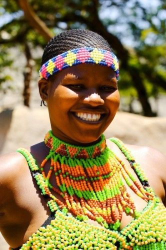 scenes from Africa -  Beautiful bead work