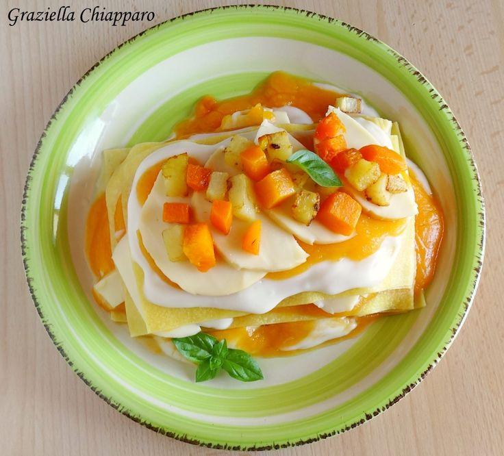Lasagne+zucca,+patate+e+scamorza+|+Ricetta