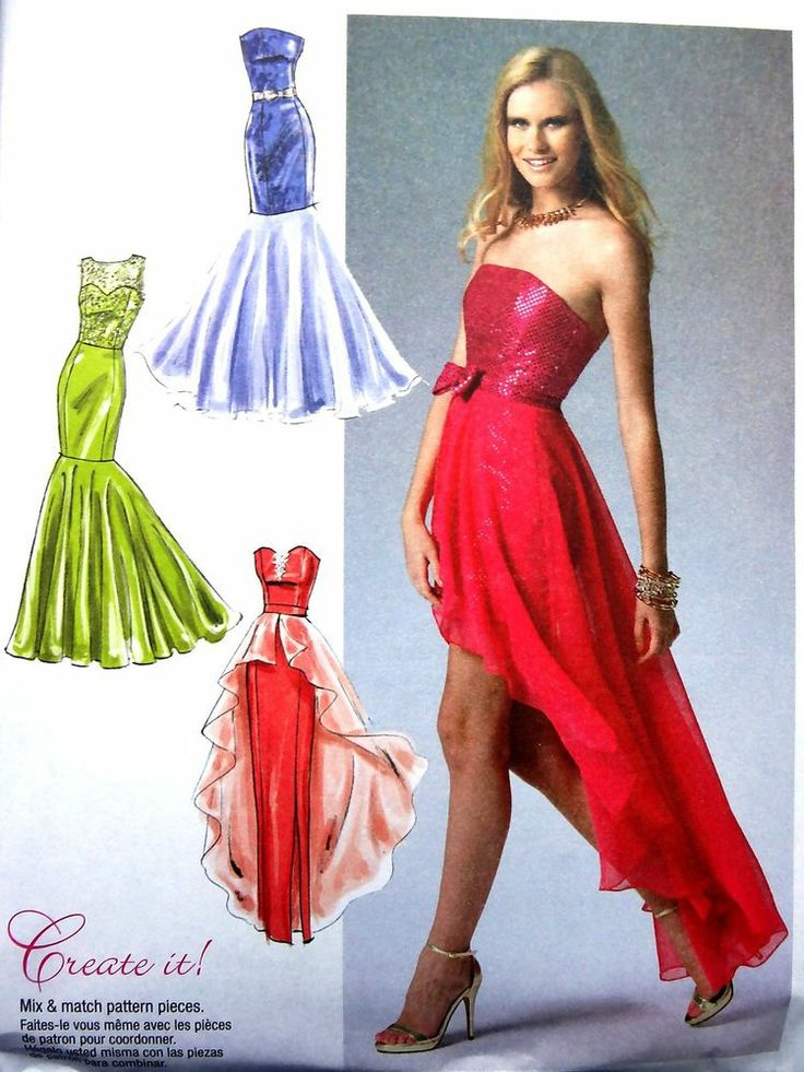 Fishtail prom dress patterns - Fashion dresses