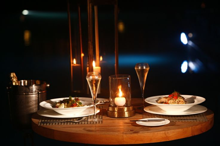 A romantic candlelight dinner with your partner on Valentines day #AlilaDiwa #Goa