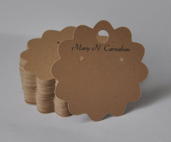 Earring Cards Custom Jewelry Display Personalized Label Hang Tag Printed Label Flower Shape