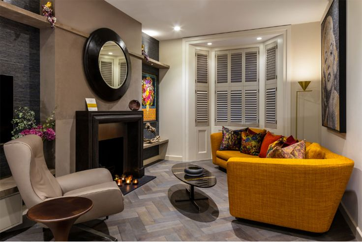 Interior Design Project by Daniel Hopwood Interiors #interiordesign #architecture #shutters