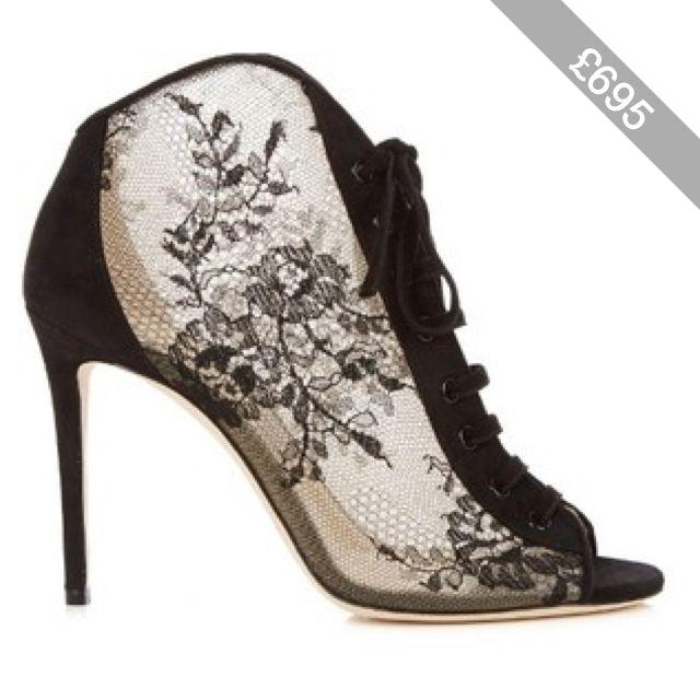 Jimmy Choo Freya 100mm open-toe lace ankle boots