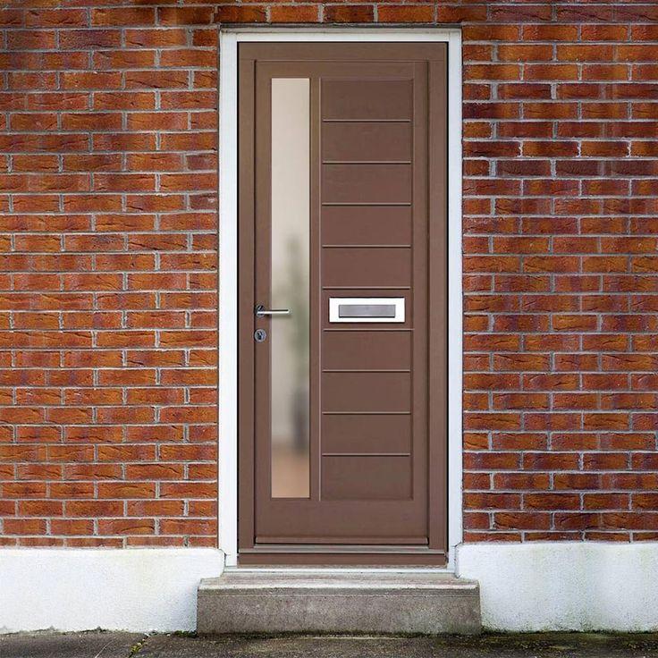 Dale High Performance Warwick Door & Frame Set - Fully Decorated. #daleexternalcontemporarydoor #externalcontemporarydoor #dalemoderndoor
