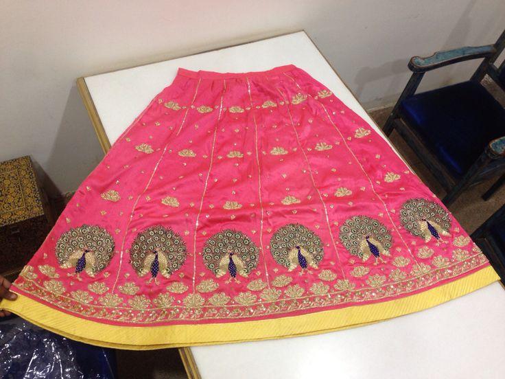 Zardosi Peacock Design Lehnga @ Rangzari