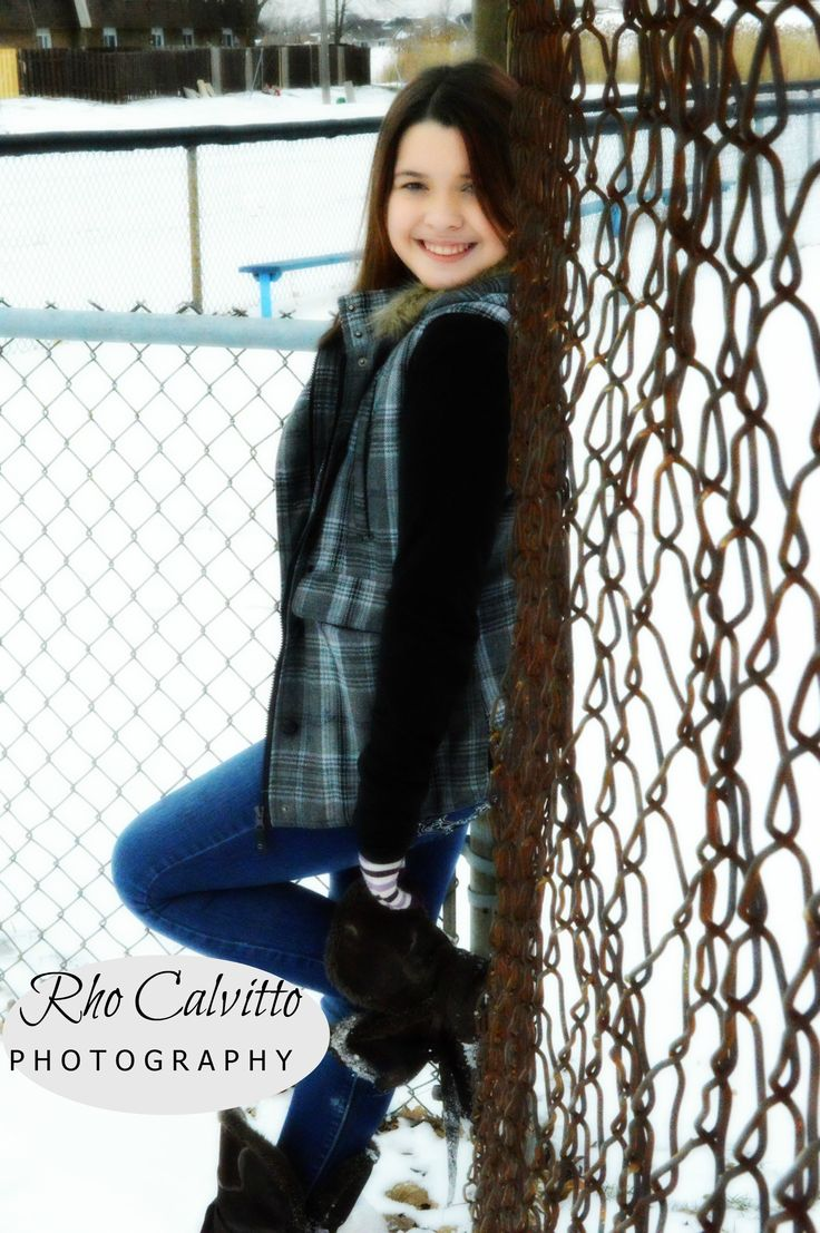 fur faux coat teen pose  outdoor  winter  snow  photography  Rho Calvitto Photography