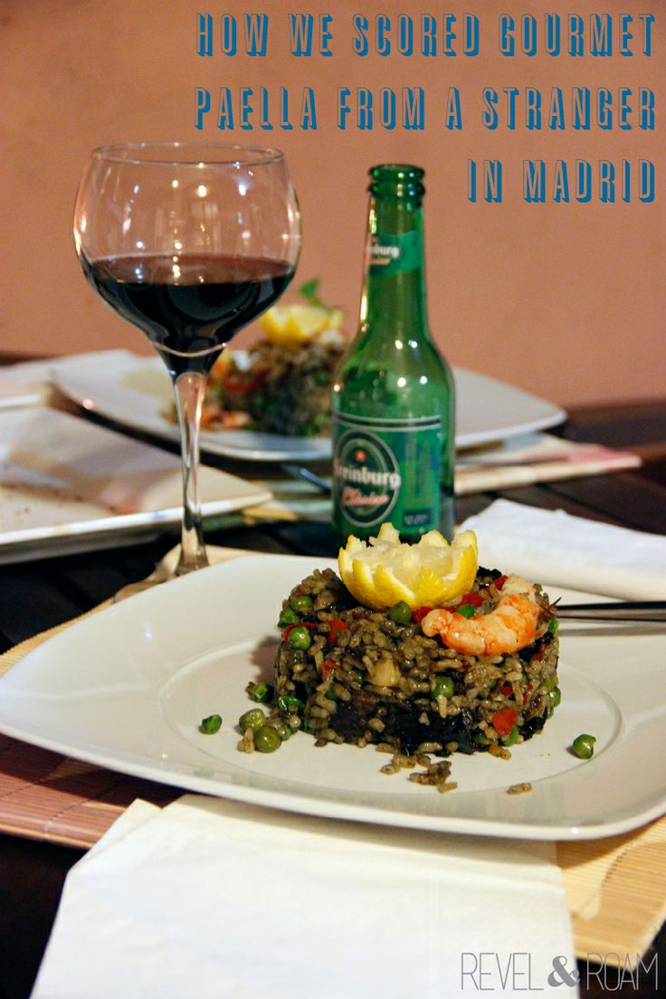 Click through to find out how we scored gourmet paella from a stranger in Madrid!