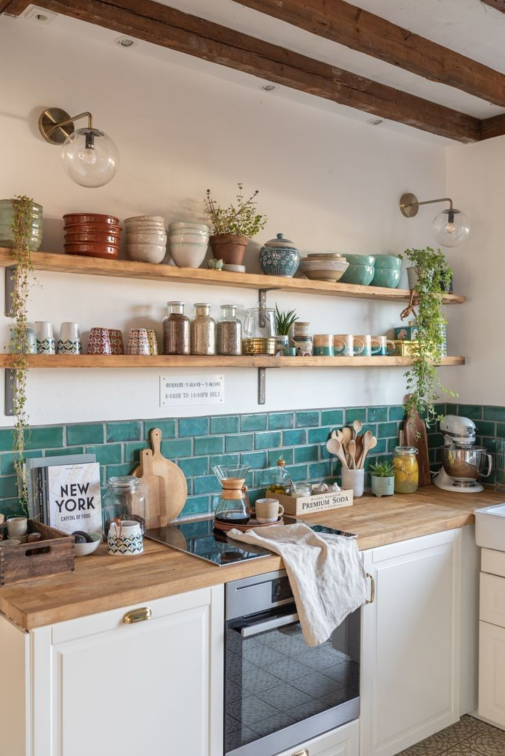 Unique Home Decor Ideas Living Room Apartment Kitchens 11 In 2020 Kitchen Wall Decor Boho Kitchen Bamboo Kitchen Cabinets