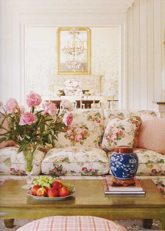 floral shabby chic living room   17 Best images about shabby chic living room on Pinterest ...