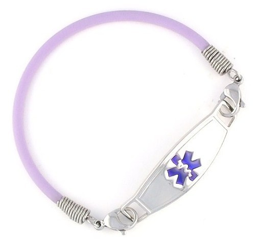 Violet Rubber Medic Bracelets Autoimmune And Chronic Pain Lupus Awareness Medical