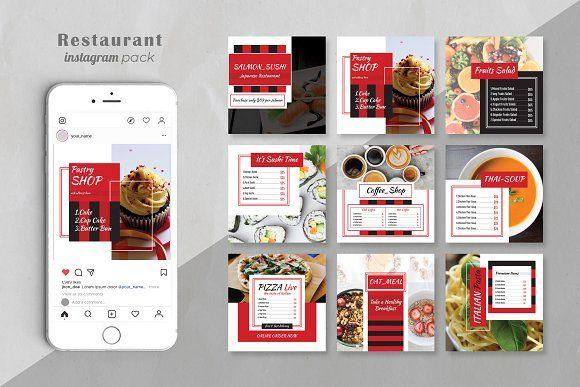 Food Menu Social Media Pack Food Menu Social Media Pack Restaurant Social Media