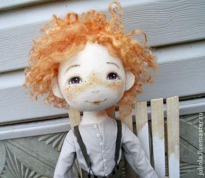 `Том Сойер`, текстильная кукла. ...'В американской провинции живет мальчишка Том…