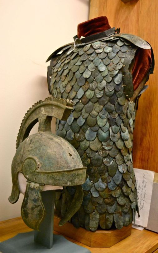 Lorica squamata is a type of scale armour used by the ancient Roman military during the Roman Republic and at later periods.