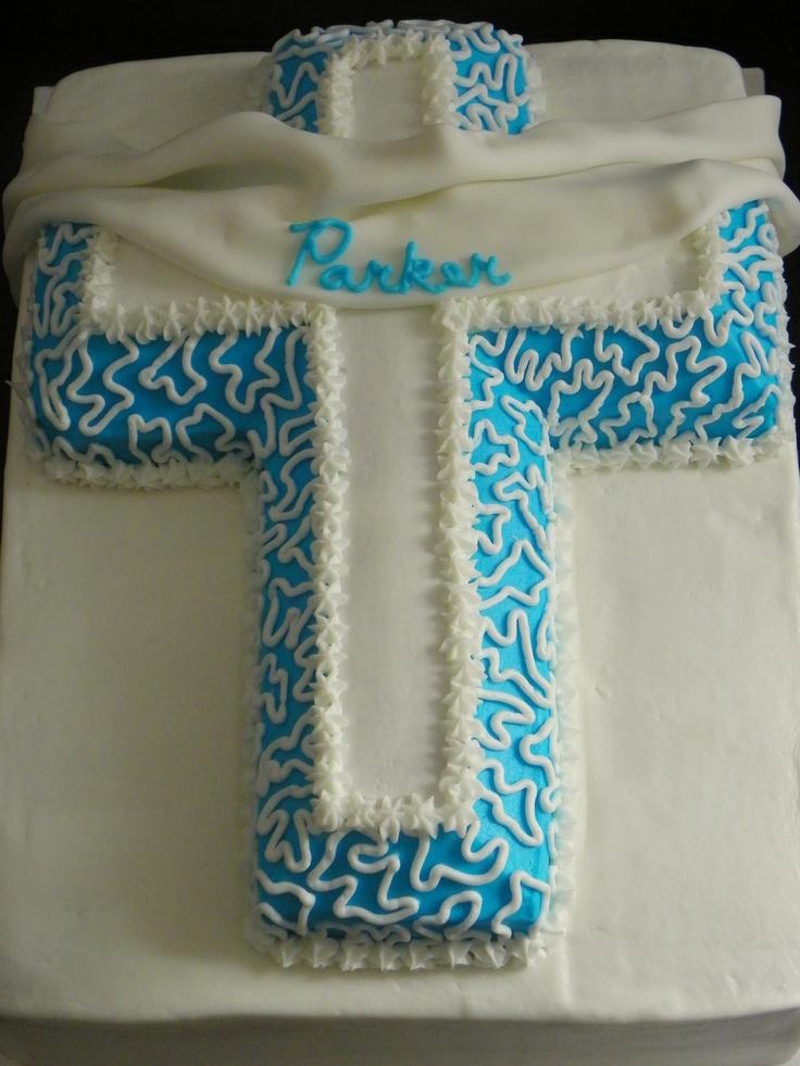 Cross For A Baby Boy Baptism S Cake Rakim S Baptism