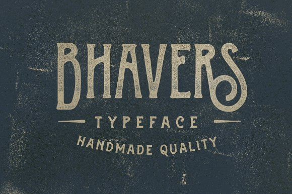 Bhavers Typeface by ilhamherry on @creativemarket