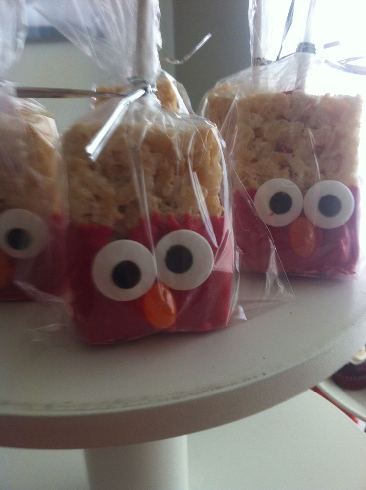 Elmo Rice Crispy Treats Birthday Treats Pinterest