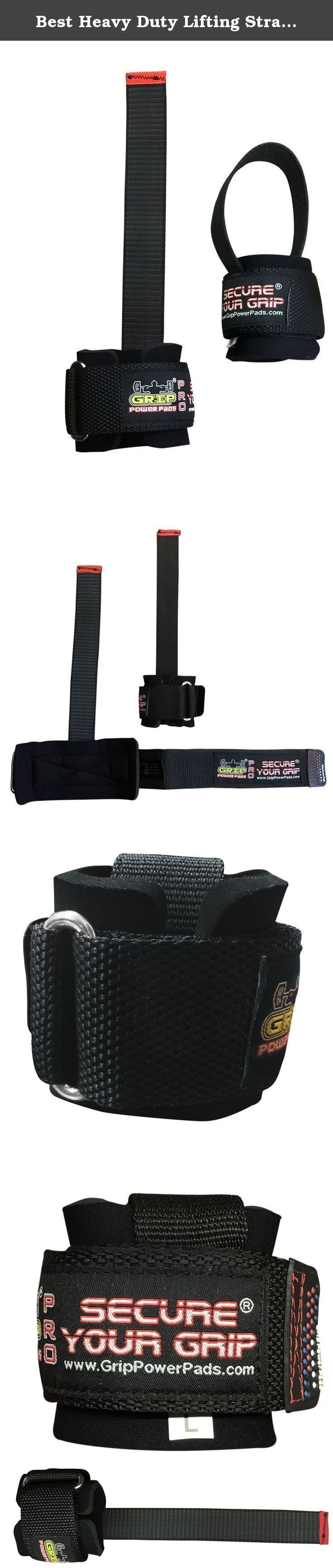 Best Heavy Duty Lifting Straps Neoprene Padded 1 Pair Wrist Wraps & Rubbery Grip Support Straps with Cotton Coated Rubber on One Side (Rubber Side Face The Bar). Padded weight lifting straps for enhanced Grip and wrist support. With Inner cushion padding to protect wrist while training. The Straps padding cushion must be facing the bar while lifting. Great for general weight lifting or power lifting use. One size fits all and come as pair.