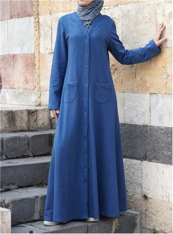 SHUKR International | Maxi Cardigan- would wear this with a belt to cinch the waist over a pretty dress or skirt