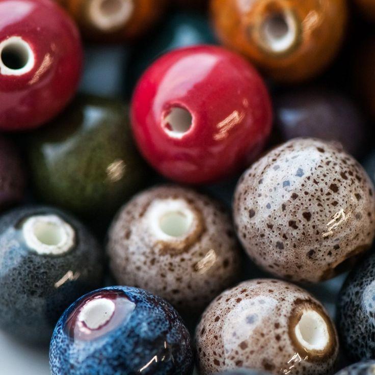 """Бусина, керамика """"Антик"""", цветовой микс, 14 мм купить недорого по цене 43.10 руб.   Заказать Керамические бусины в интернет-магазине Кафебижу в Москве"""