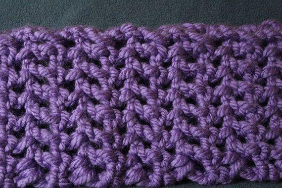 Textured Crochet Blanket on Etsy, $25.00