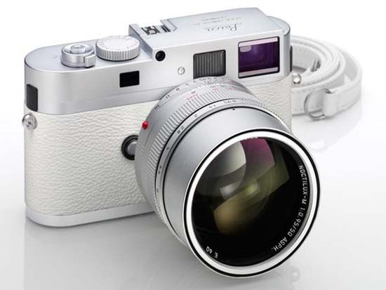 photography Leica Camera a limited edition white version of the M9-P. This white kit comes with a silver Noctilux-M 50mm f/0.95 lens and a leather strap. Priced at $2.62 million yen (or around $31,700 USD) only 50 of these special aluminum and white leather bodied will be seen in the market.