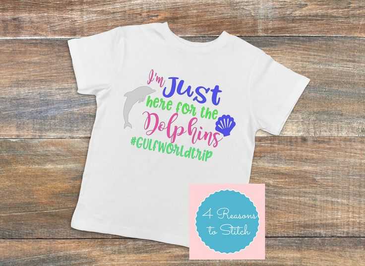 Family Vacation Shirts-I'm Just Here for the Dolphins-Zoo shirts-Aquarium Shirts-Mommy and Me shirts-daddy and Me shirts-Summer vacation by 4Reasons2Stitch on Etsy