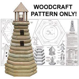 Landscape Timber Lighthouse DIY Woodcraft Pattern #2041 - Impress your friends…