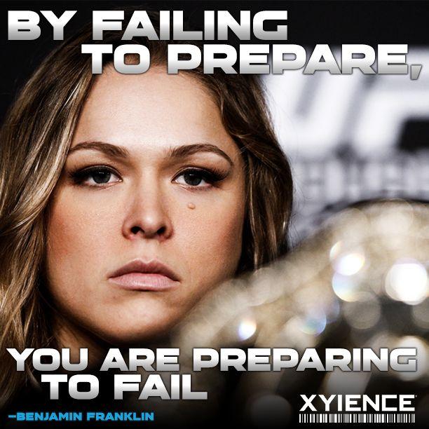 Preparation, preparation, #preparation. #Xyience #Power2Win @Ronda Rousey