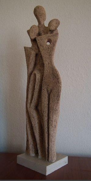 """family"" ceramic sclupture - aile seramik heykel"