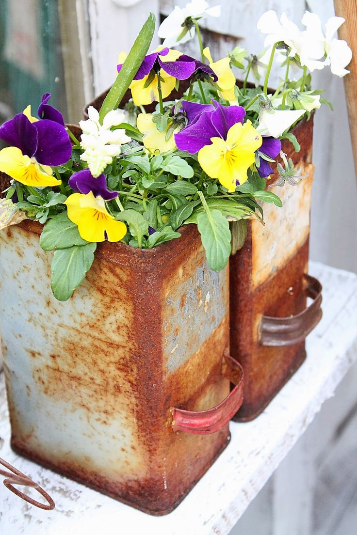 Creative Way To Use Old Things For Flower Pots Crafty Ideas Diy Pinterest