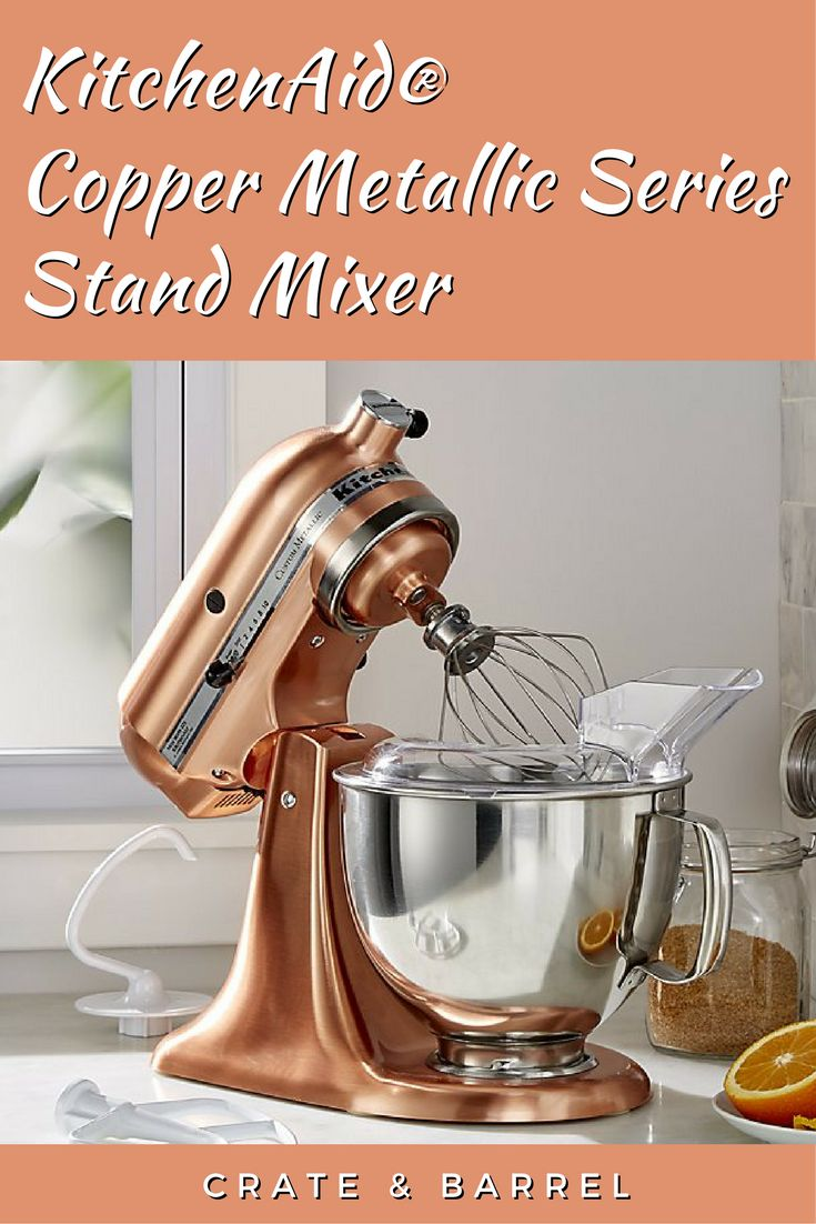 Gorgeous copper cladding elevates the kitchen presence of the classic KitchenAid stand mixer, a favorite of home and professional chefs since 1919. This mixer will look fabulous in any home decor, but especially in a Rustic or Modern Industrial setting.  #RusticDecor #KitchenAid #StandMixer #Copper #Kitchen #RusticKitchen #Ad #Affiliate #Appliances #Modern #ModernDesign #LoftDesign #KitchenAppliance