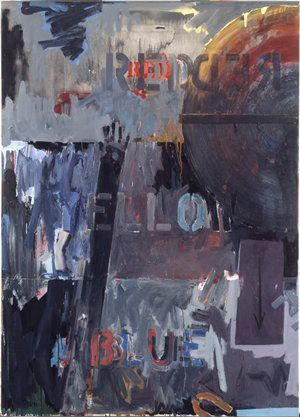 Jasper Johns. Land's End. 1963. Painting | oil on canvas with stick. San Francisco Museum of Modern Art.