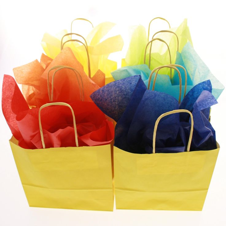 Colourful paper bags - #wedding #bag