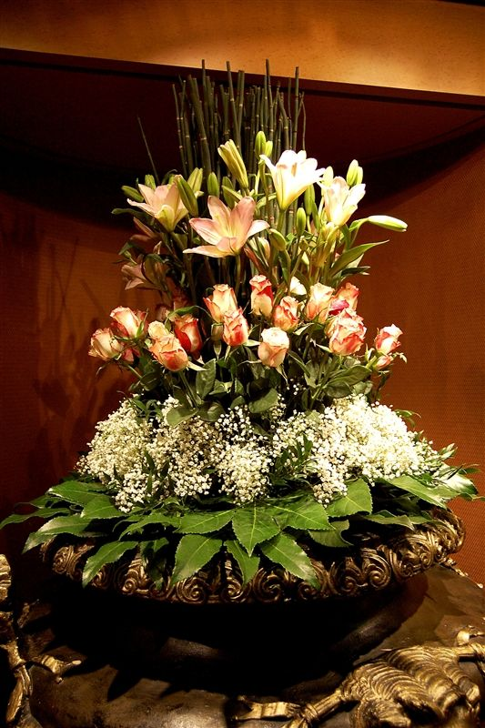 large floral arrangements | These very large floral arrangements were all over the ship. They were ...