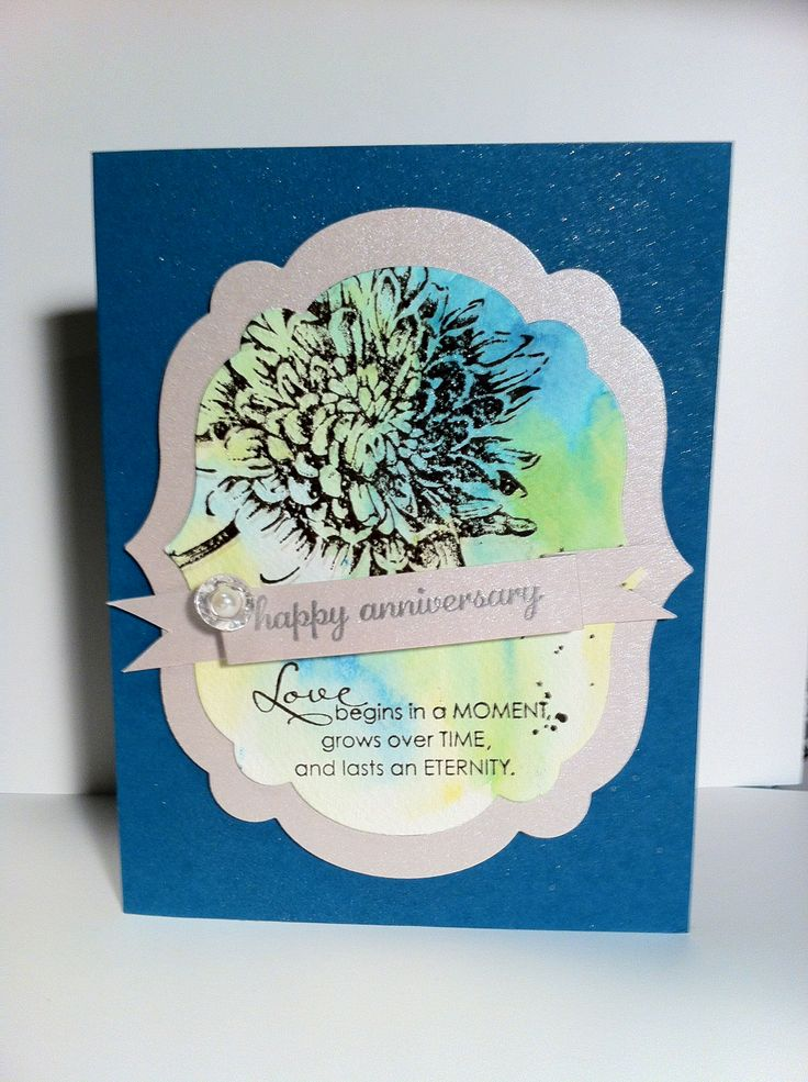 Wedding Anniversary card Stampinu0027UP Blooming With Kindness