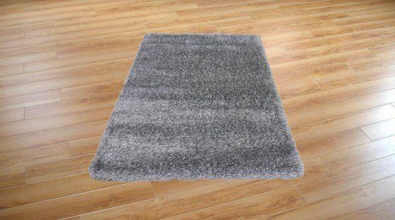 Luxus szürke ezüstözött shaggy szőnyeg 80x150 cm összekötő