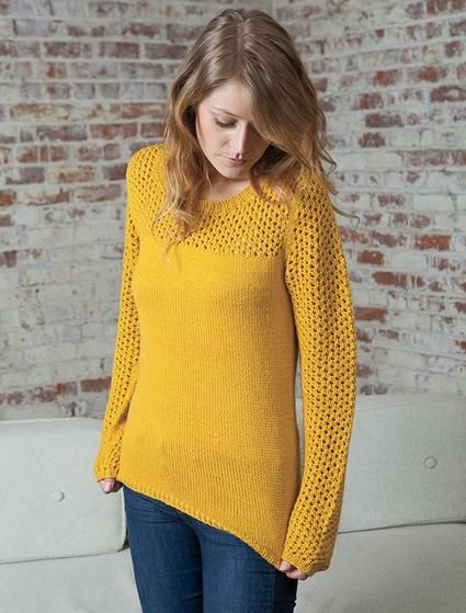 Hot Cider Pullover - Knitting Patterns and Crochet Patterns from KnitPicks.com