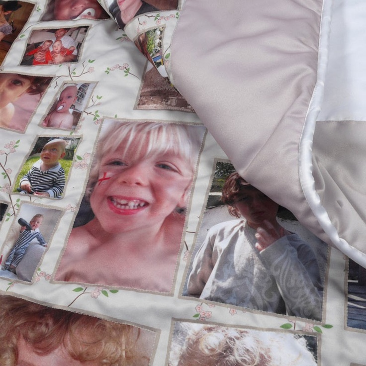 foto quilt mit familienfotos detailaufnahme n hen fotos patchworkdecke und geschenke. Black Bedroom Furniture Sets. Home Design Ideas
