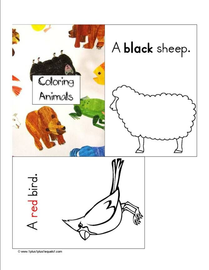 Coloring Animals Emergent Reader To Go Along With Brown Bear