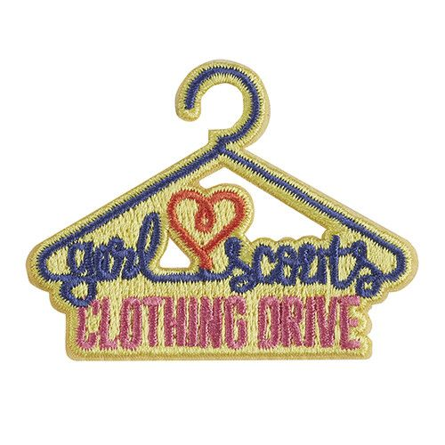 """2¼"""" x 1¾"""" Embroidered patch. All Fun Patches are unofficial and are not to be worn on the front of the Girl Scout sash, vest or tunic. All fun patch designs are exclusively owned by Girl Scouts of the USA."""