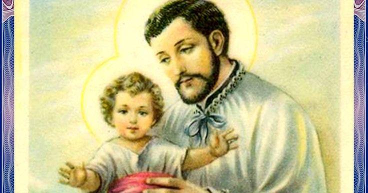 Glorioso y bienaventurado san Cayetano,   lleno de amor aJesús Sacramentado   e inmensaconfianzaen Dios y su Divina Providencia,   ...